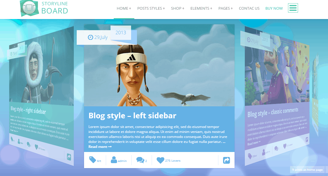 Storyline BoardWordPress Theme