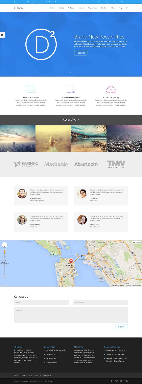 15 best branding wordpress themes web create me - Divi wordpress theme ...