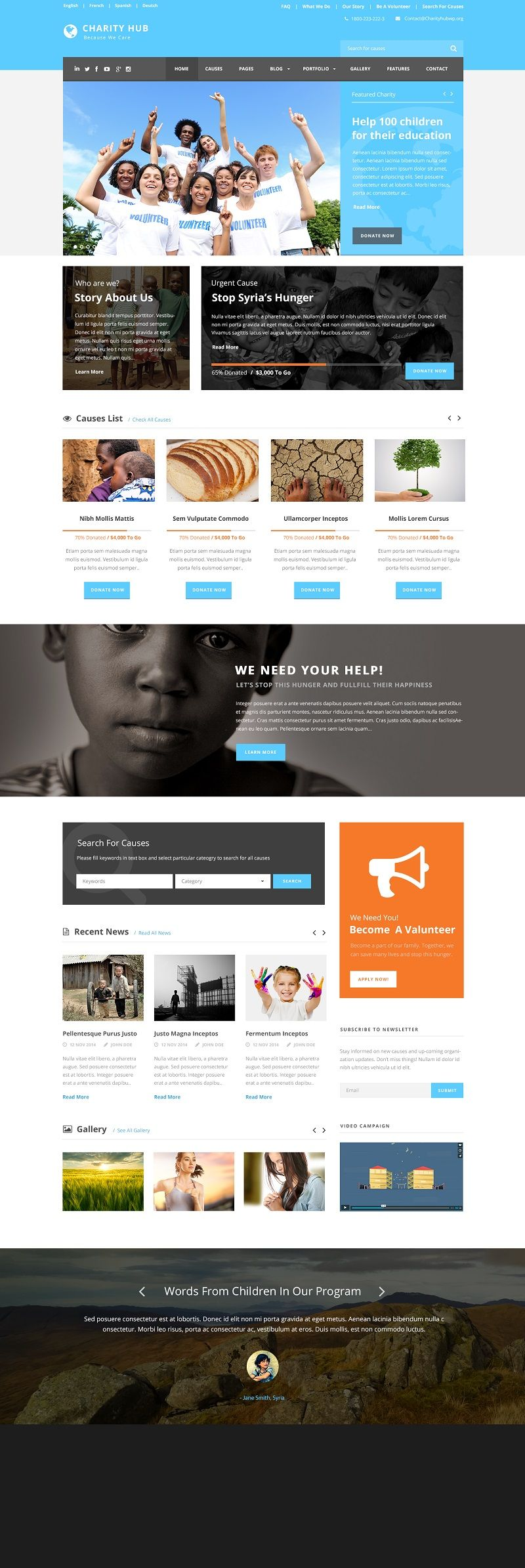 charity wordpress