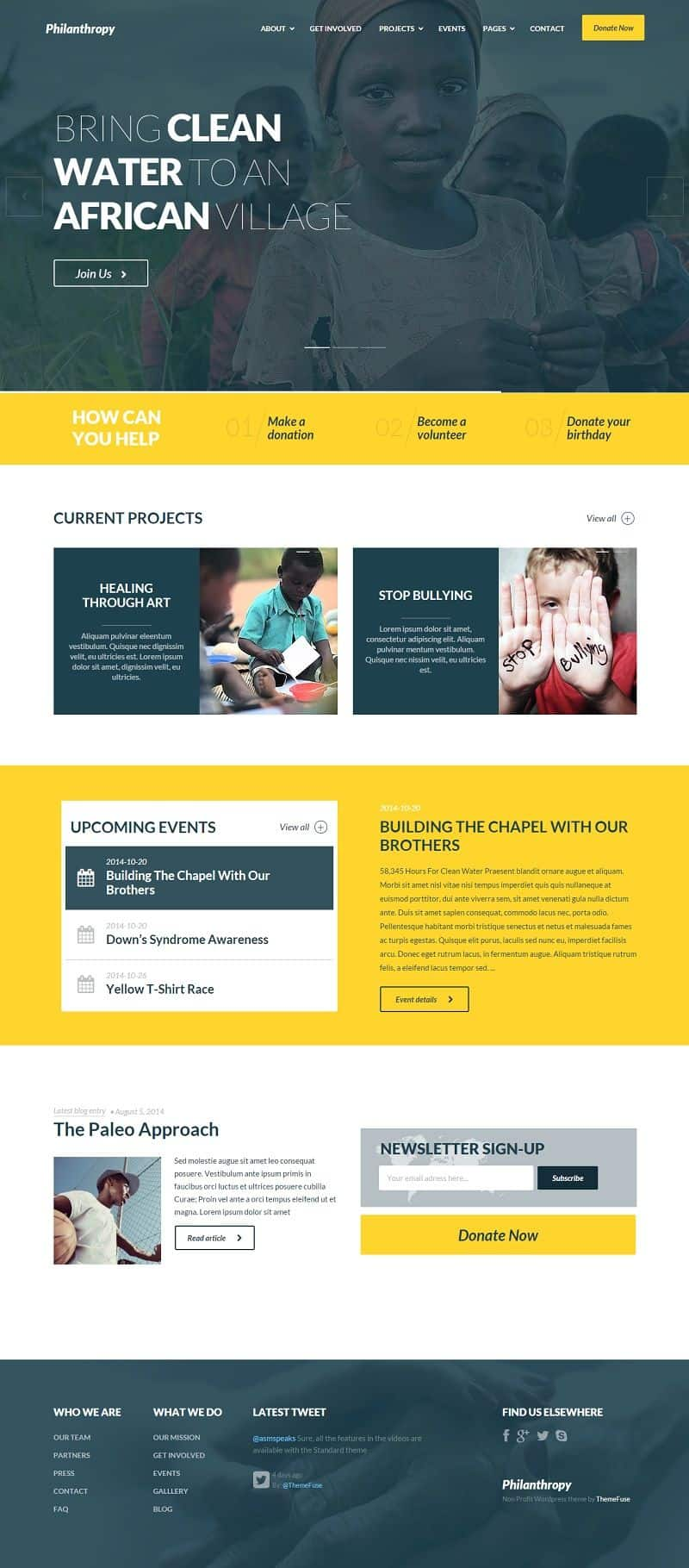 Philanthropy Charity WordPress Theme