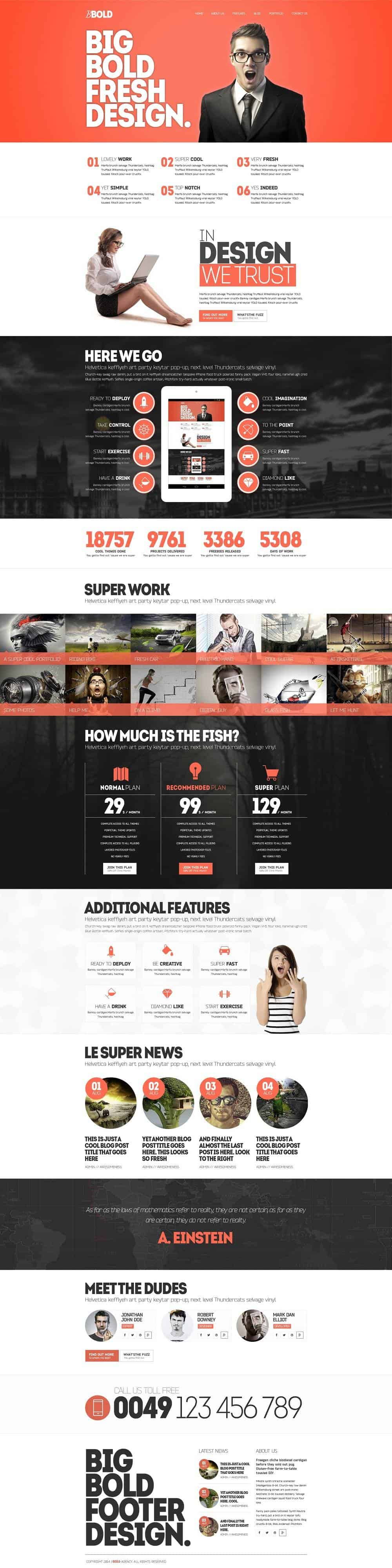 bold creative wordpress template