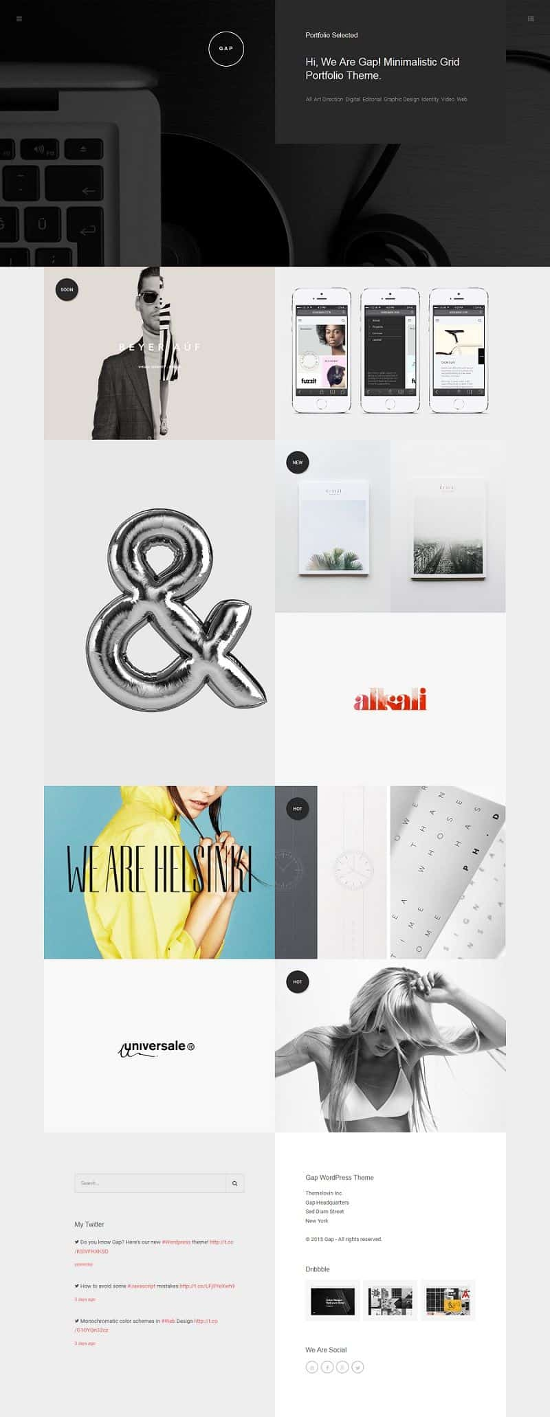 creative wordpress theme for portfolio