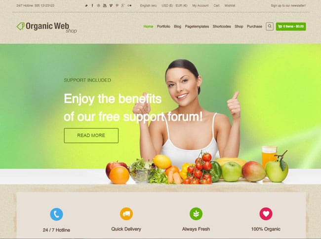 10+ Best Organic WordPress Themes 2015 09