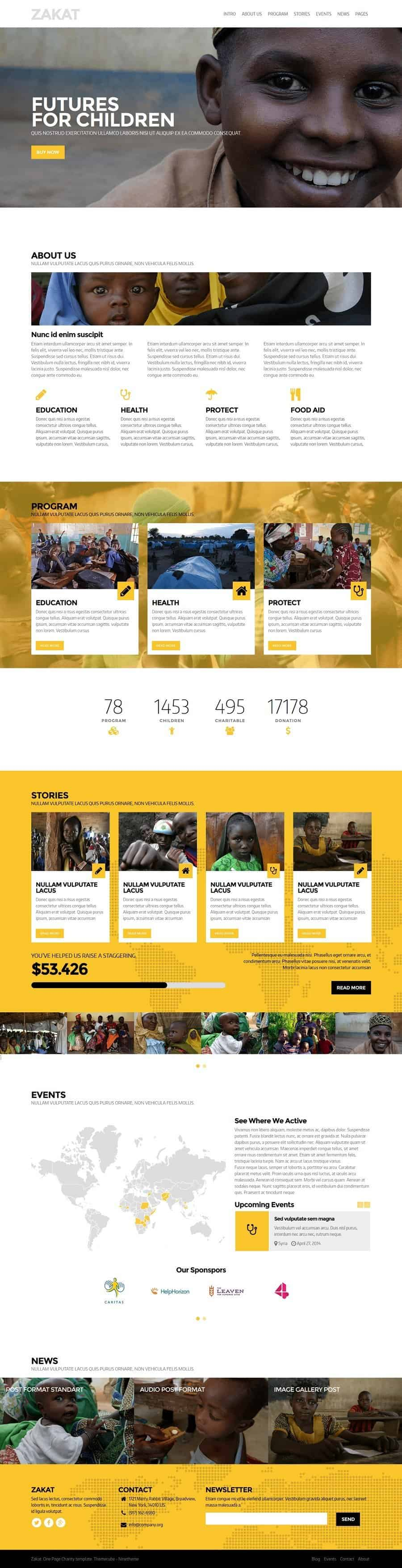 Zakat WordPress Theme