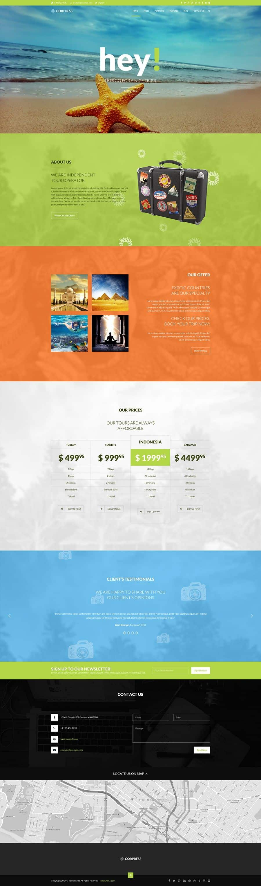 creative wordpress theme for business