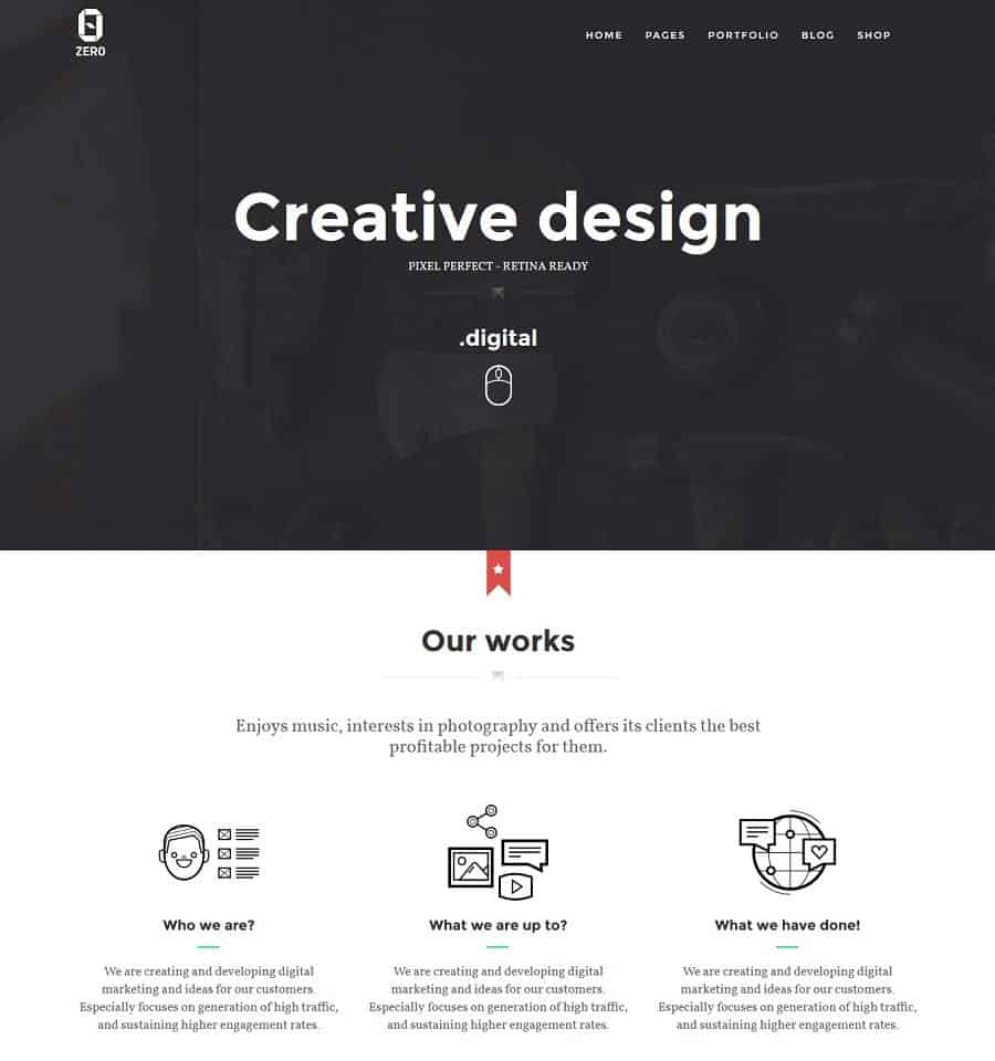 creative design wordpress