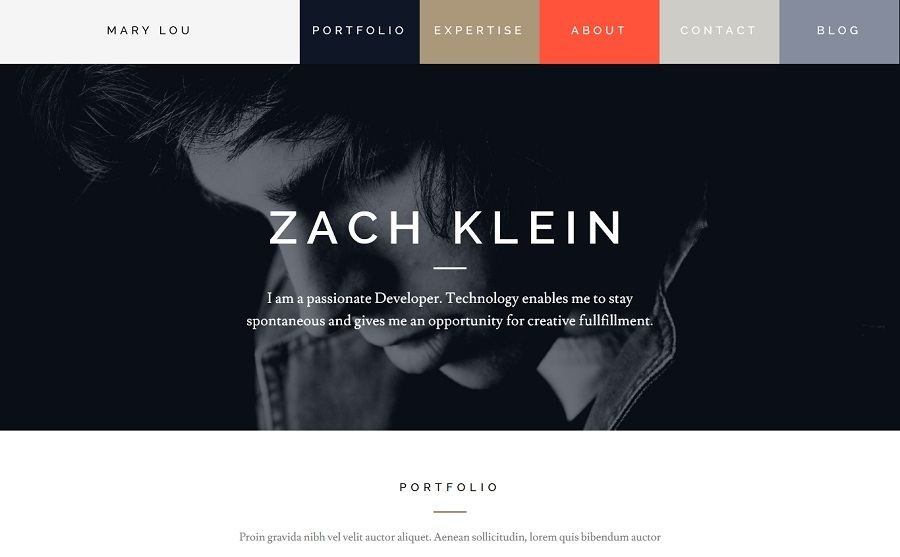 creative wordpress template