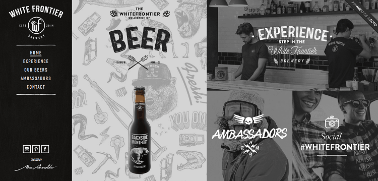 creative website for brewery business