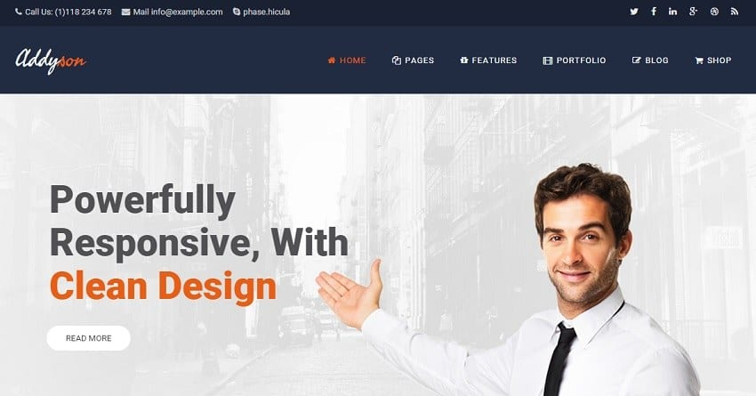 addsyson business wordpress theme