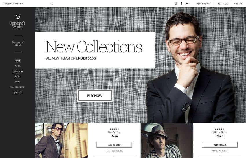 Best wordpress ecommerce themes for professionals 2018 for T shirt ecommerce website