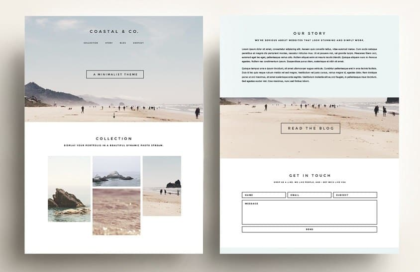 simple wordpress theme with minimal design