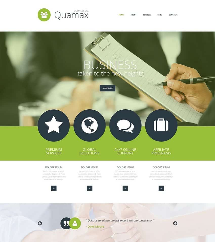 top business website template