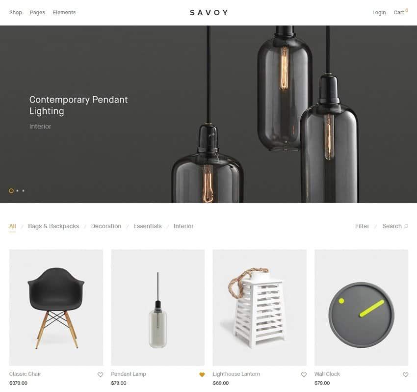 simple wordpress theme - savoy