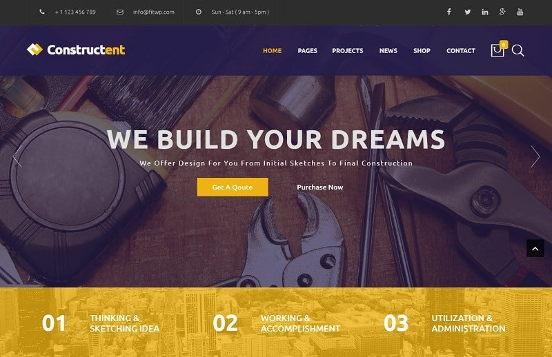 top construction wordpress themes