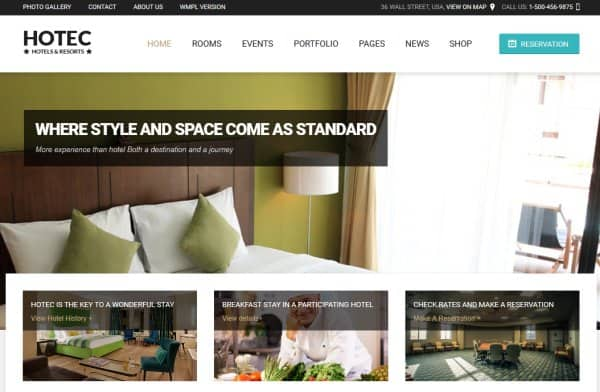 hotec theme for hotels