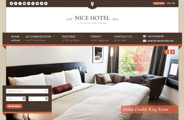 Nice Hotel - A Luxury WP Theme