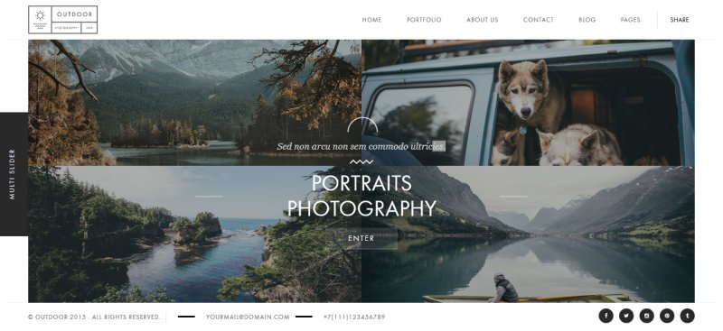 Outdoor - Photography WordPress Theme - WebCreate.Me