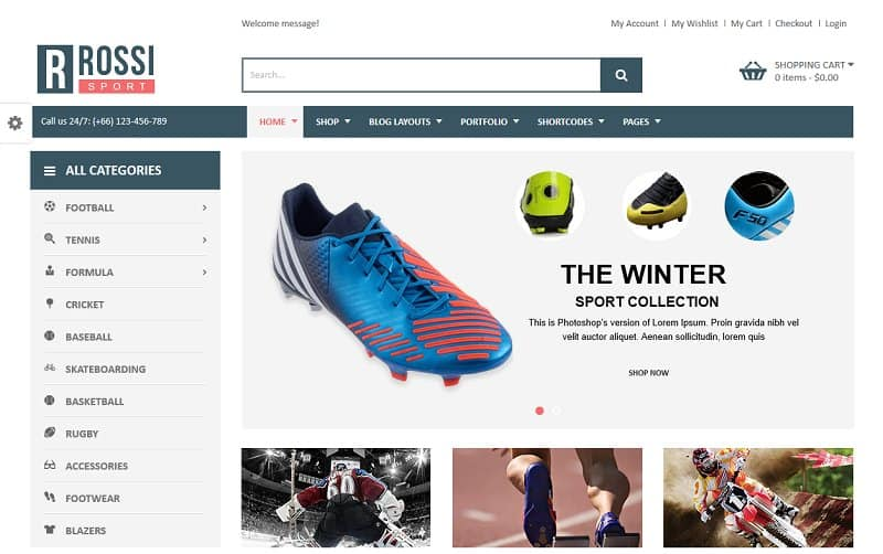 ecommerce shop wordpress theme