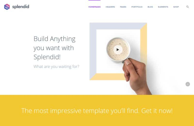 creative wordpress theme splendid