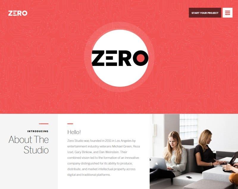 Zero Theme – Creative WordPress Theme