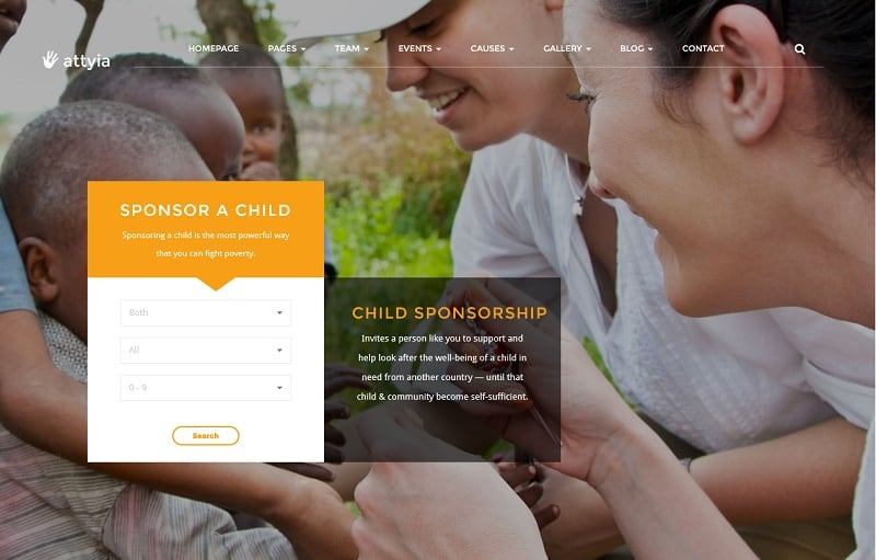 charity and nonprofit wordpress theme
