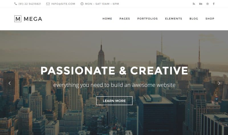 mega creative wp theme 2016