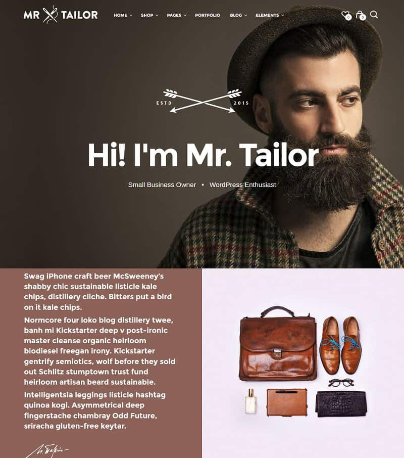 mr. tailor wordpress ecommerce theme