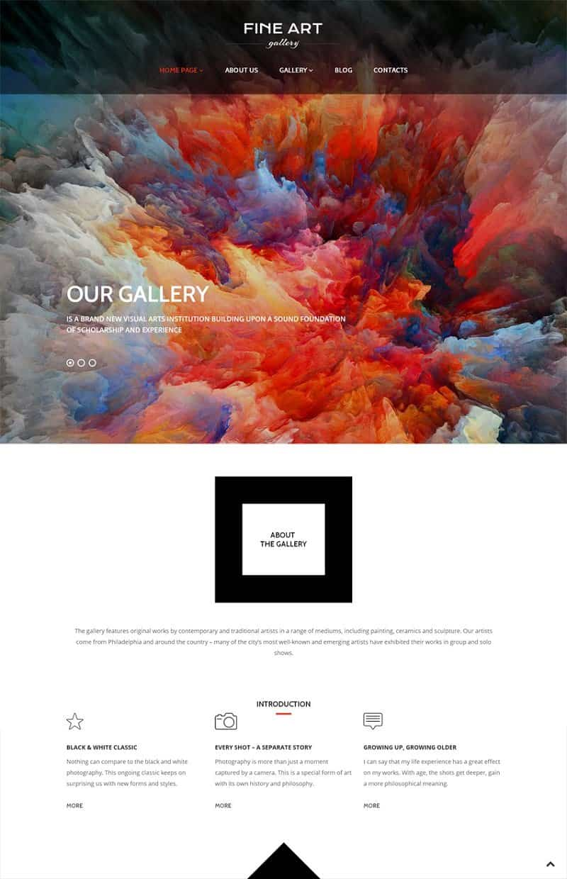 fineart creative wordpress theme