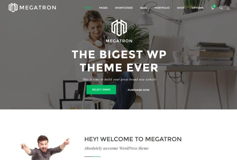 megatron creative wordpress theme