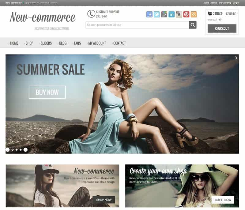 new-commerce wp theme