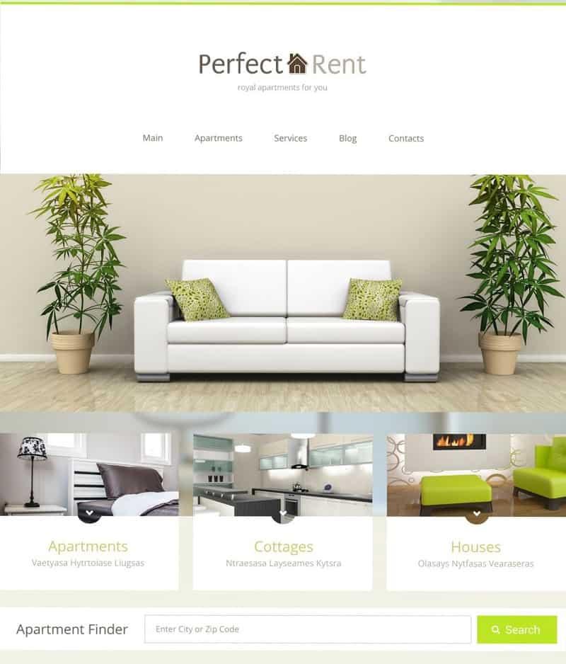 perfect rent clean wordpress theme