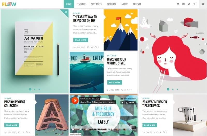 original flow best blog wordpress theme 2016 webcreate me