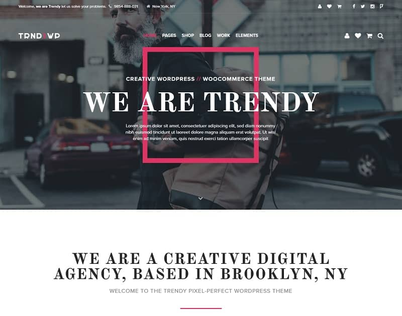 the trendy creative wordpress theme