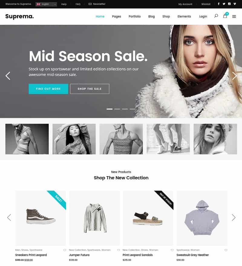 suprema ecommerce theme for wp