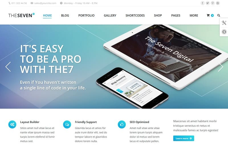 the7 ultimate wordpress theme