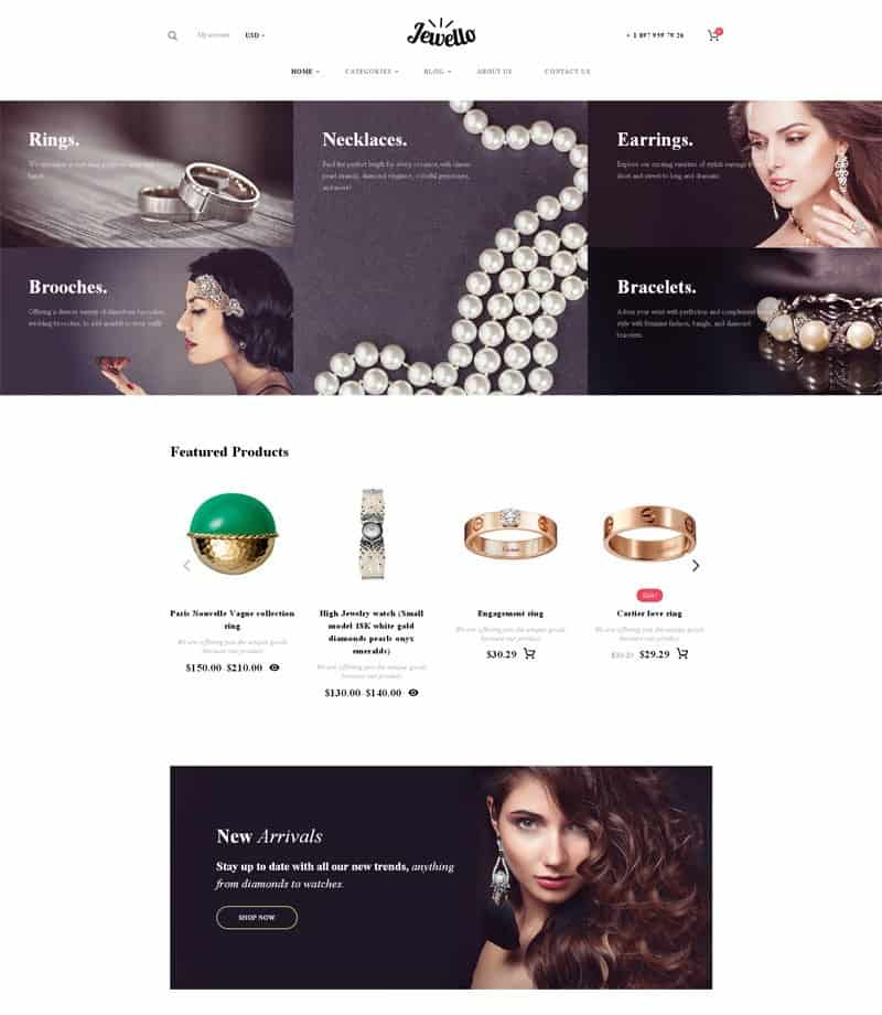 Jewello WordPress WooCommerce Theme