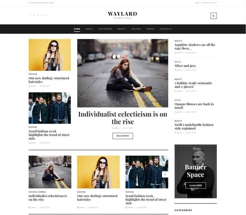 waylard responsive magazine theme