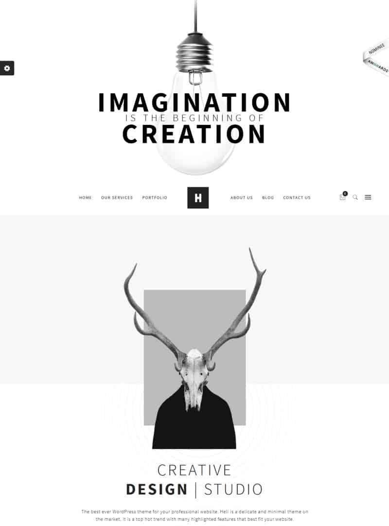 heli - wordpres theme with simple design