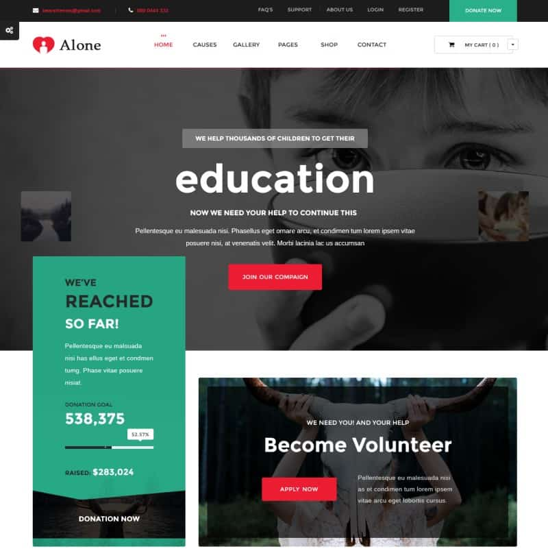 Charity Multipurpose Non-profit Theme for WordPress
