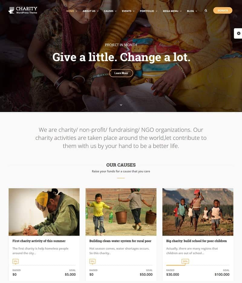 Charity WP template