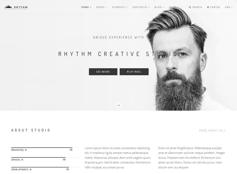 Rhythm WordPress Simple Theme
