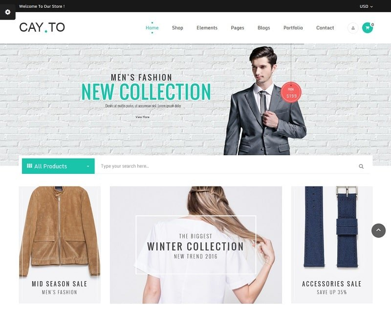 cayto best ecommerce theme