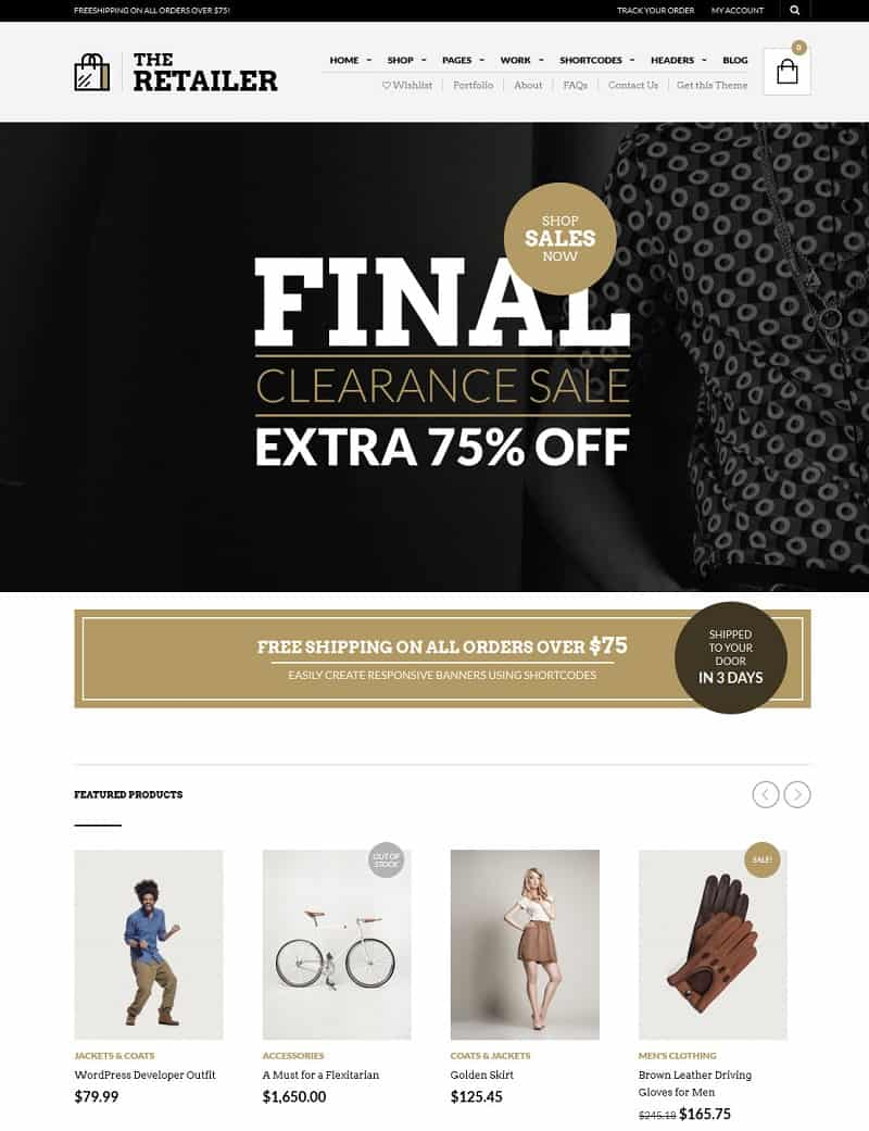 woocommerce wordpress theme - retailer