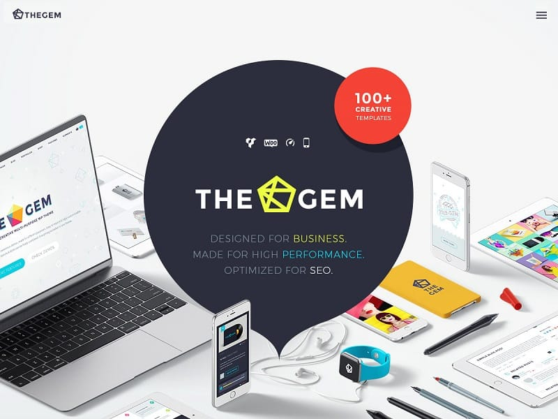 55 best business wordpress themes of 2018 updated thegem wordpress business theme accmission Images