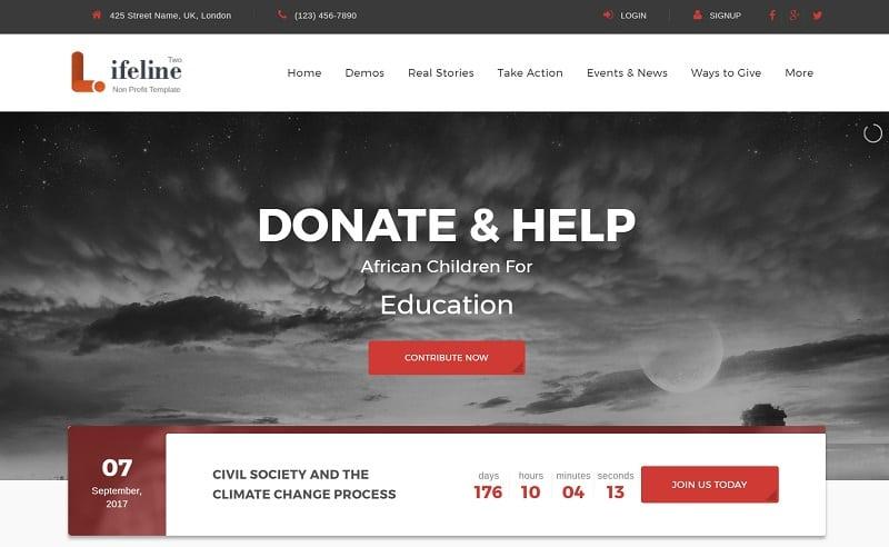 Lifeline 2 – Multipurpose Non profit WordPress Theme for Charities