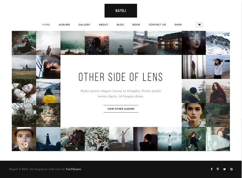 photography theme for portfolio
