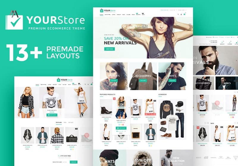 yourstore woocommerce tempalte for wordpress