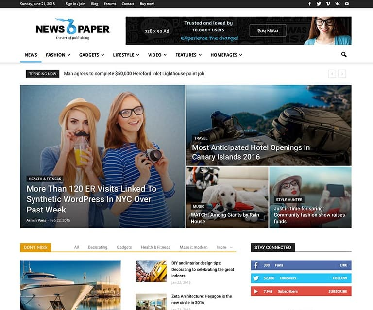 best newspaper wordpress theme
