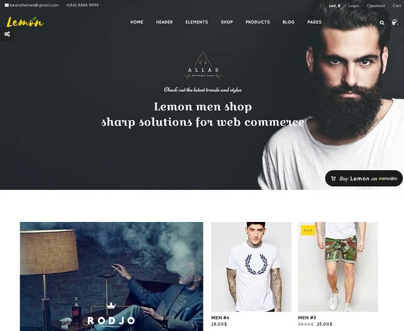 lemon wordpress ecommerce theme
