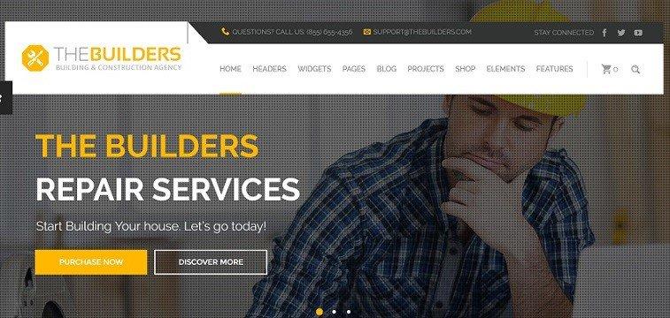 The Builders – Construction WordPress Website